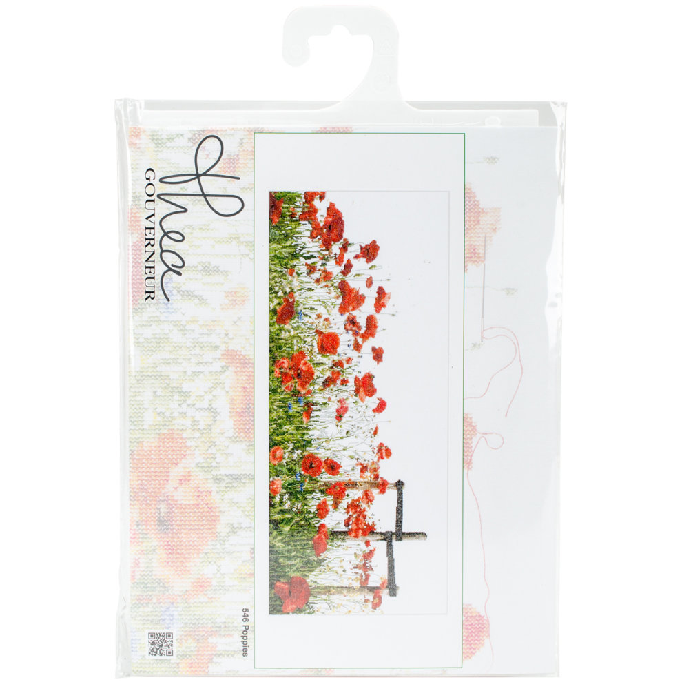 """Poppy Complete Counted Cross Stitch Kit 11.5/"""" x 9.5/"""""""