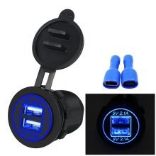 Upgrade Dual USB 4.2A Socket Charger 12-24 Volt IP66 Waterproof Power Outlet
