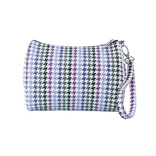 Shirley Temple-Touch Up Insulated Cosmetics Bags with Removable Wristlet, Houndstooth - Large