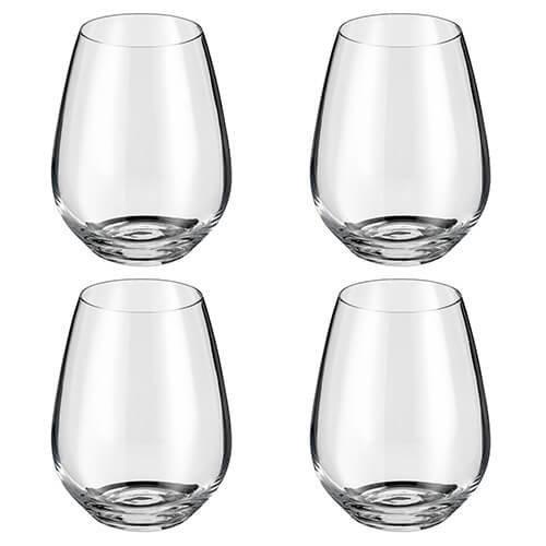 Judge Crystalline Set of 4 Stemless Wine Glasses 400ml