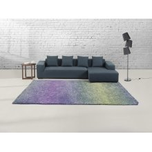 Carpet Rug blue - purple- Shaggy - Polyester - SOMA