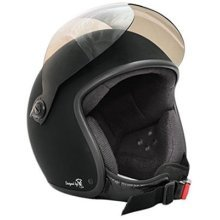 Bores BOGO Designed by SLER; CE EN1077Sports Testing without ECE 1Jet Helmet with Visor–Matt Black, Extra Small, 50cm