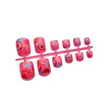 2 Boxes of DIY Wedding Designed False Toenails/nails,Pink Bubble