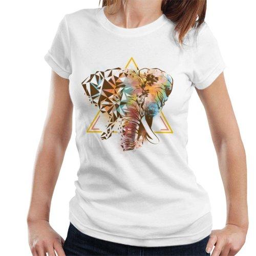 Geometric Elephant Women's T-Shirt