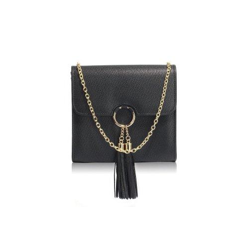 Anda Black Satchel Clutch Bag
