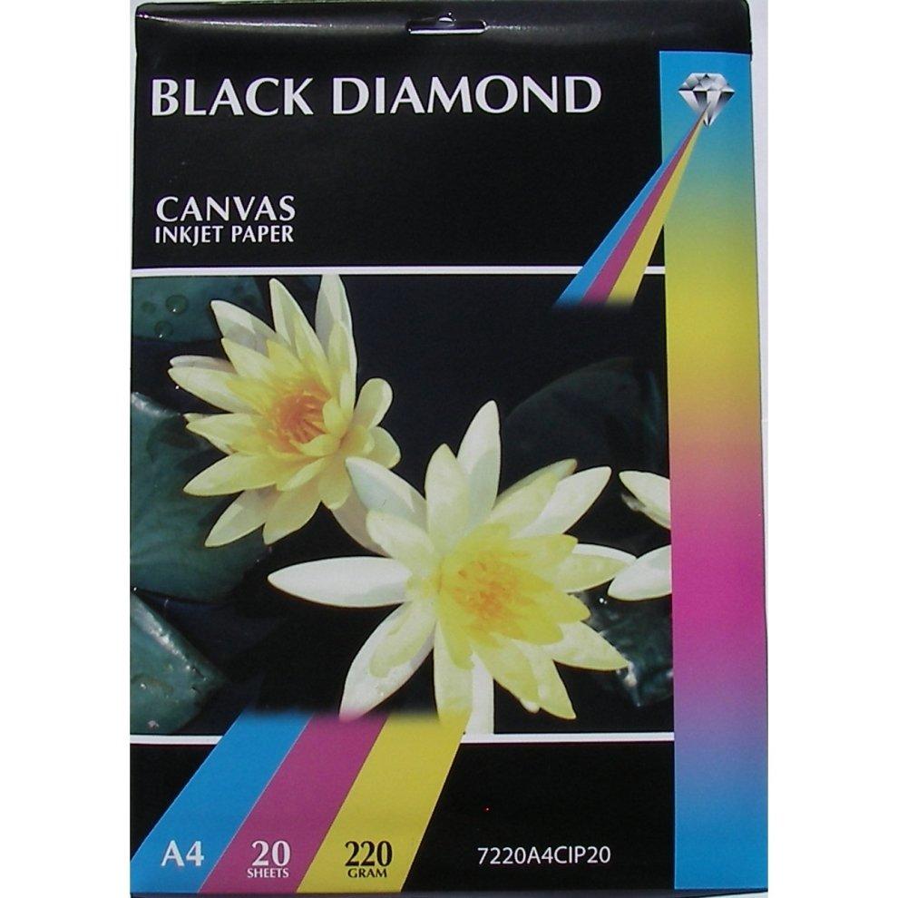 a4 220gsm black diamond canvas inkjet paper on onbuy