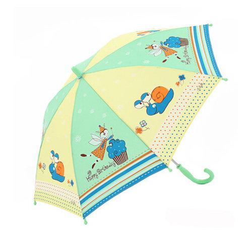 Kids Umbrella - Childrens  Rainy Day Umbrella /Bright colors,snails