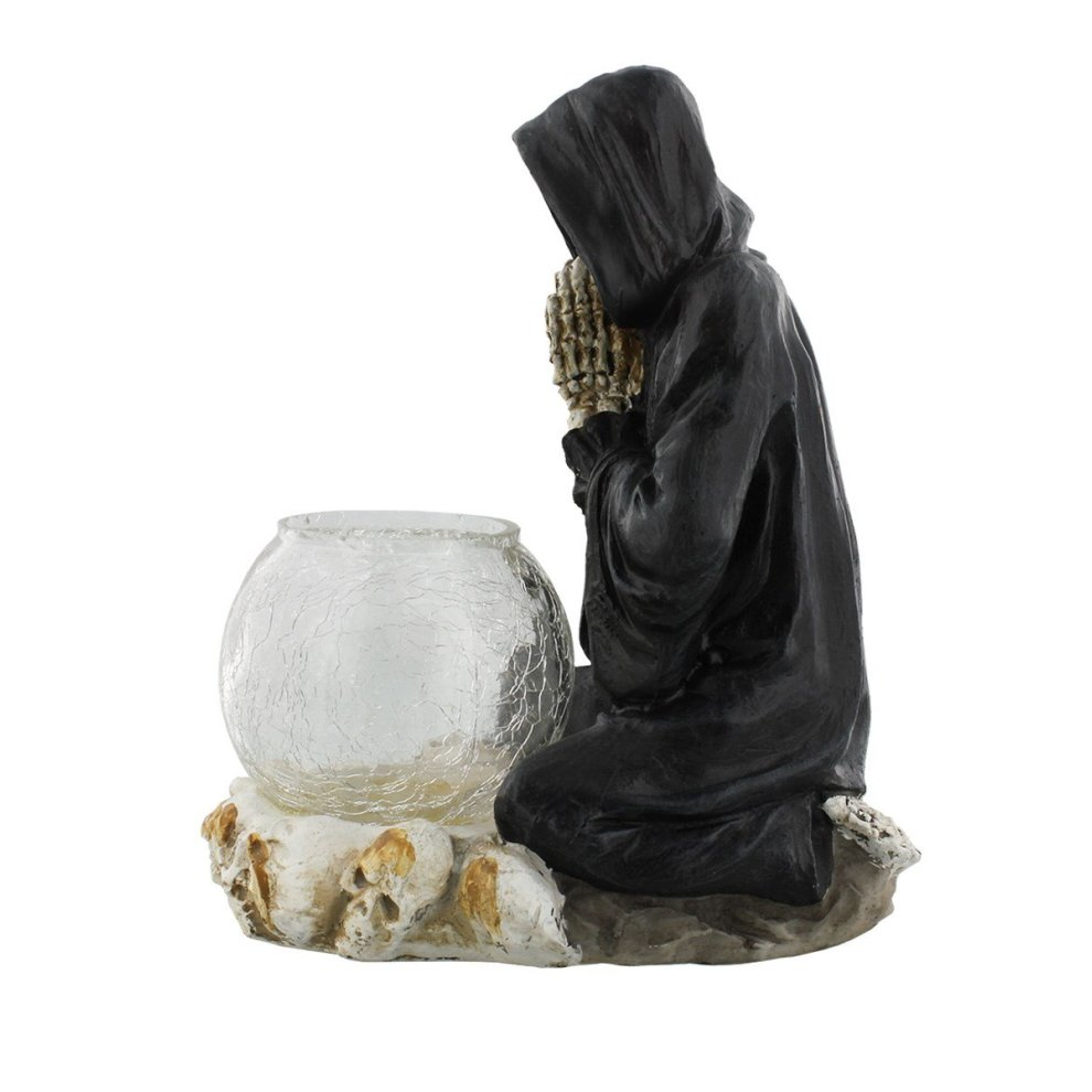 Reapers Prayer Candle Holder Black 19 5cm