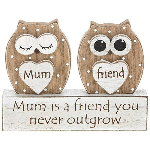 Mum Gift Owl Sentiment Table Top Mantle Plaque