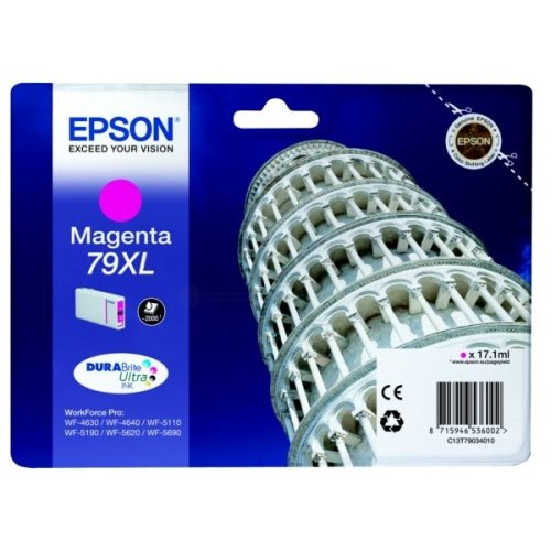 Epson C13T79034010 (79XL) Ink cartridge magenta, 2K pages, 17ml