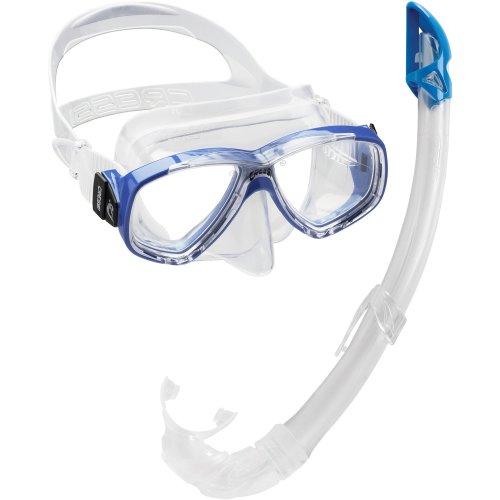 Cressi Perla Mare Combo Snorkelling Set, Light Blue