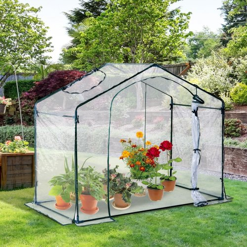 Outsunny PVC Greenhouse Walk-in Mini Portable (180L x 105W x 150H cm)