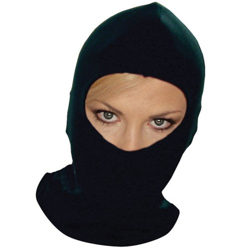 Black cotton balaclava motorcycle motorbike full face washable