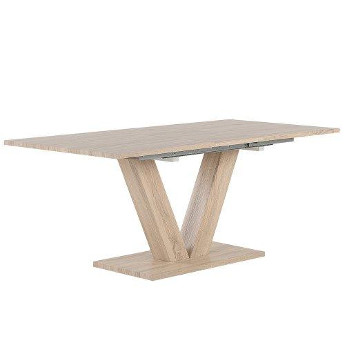 Extending Dining Table 140/180 x 90 cm Light Wood LIXA
