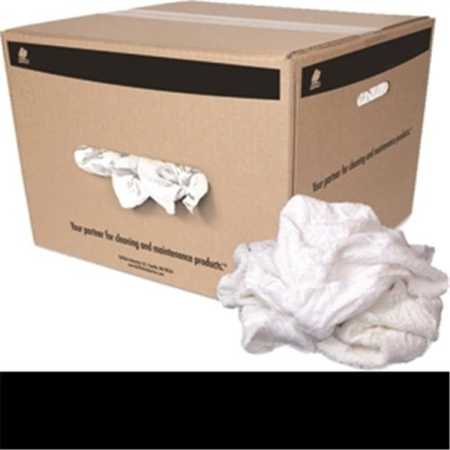 Buffalo Industries 10594 25 lbs. Recycled White Turkish Cloth Rags - Box