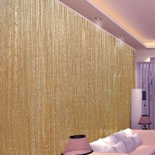 Trixes Dew Drop String Curtain | Gold String Curtain Panel