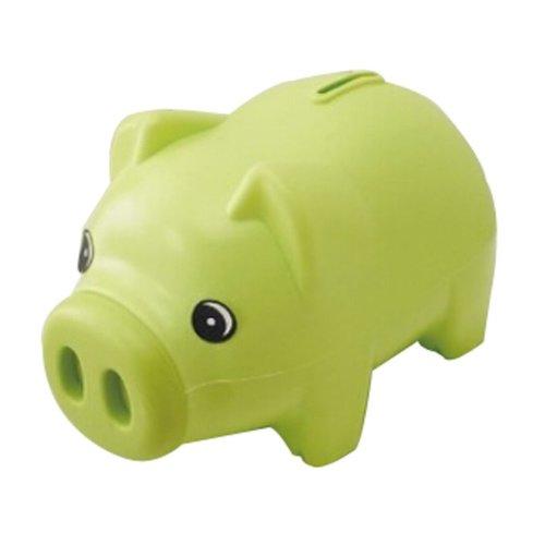 Plastic Piggy Bank Cartoon Uique Bby Gfts Adult/Children Pig Green