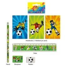 24 Football 5-piece Stationery Sets