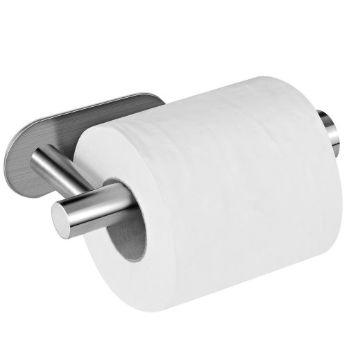 d40d16bff55617 Toilet Paper Holder, AIKZIK® Stainless Steel Wall Mount Self Adhesive Toilet  Roll Holder for Bathroom and Kitchen on OnBuy