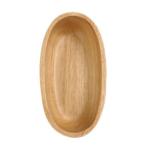 Wooden Dinnerware Fruit/ Meat/ Bread Plate Hull Form Bowl  17 X 10 X 4.5 CM