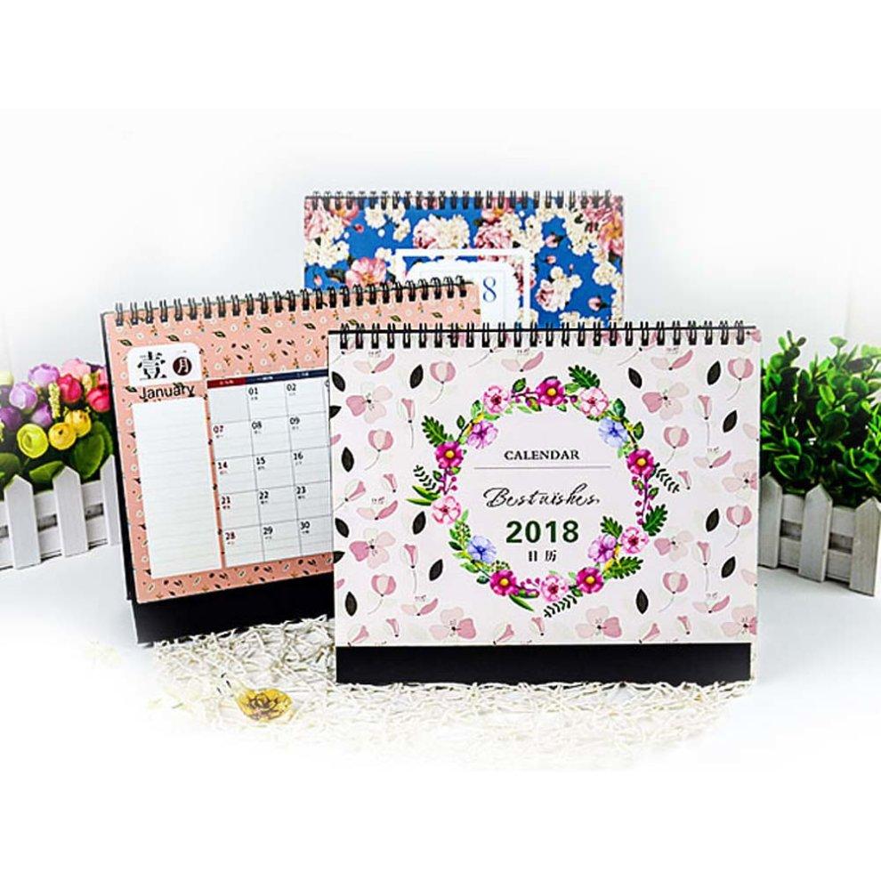 Calendar 2018 Creative Simple Fresh Cute Calendar Through Desk