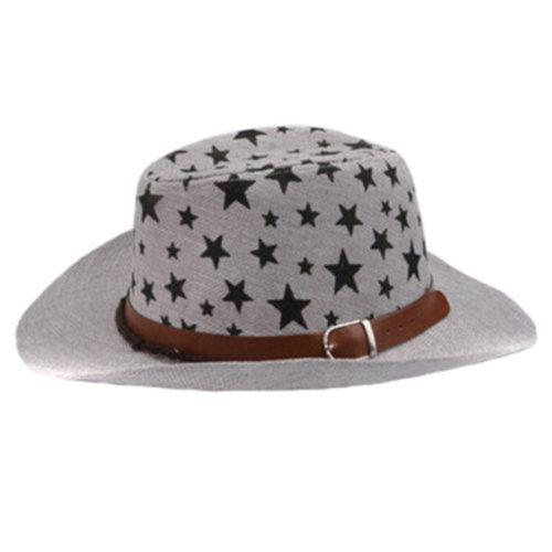 Unisex Kids Fedora Hat Bucket Hat, Lightweight Cap Sunhat  Cowboy Hat Grey