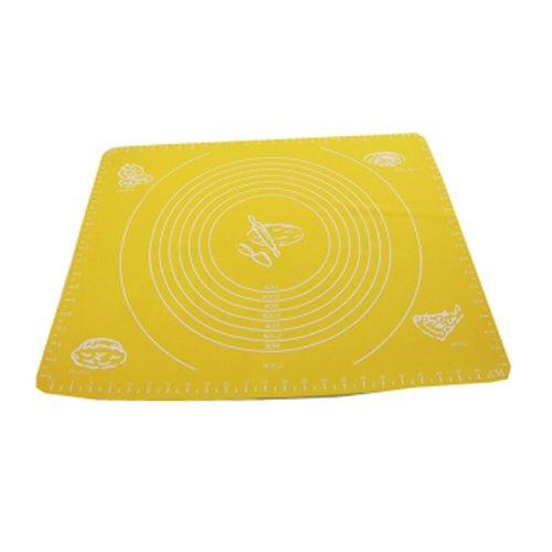 Non-stick Silicone Baking Mat Cookie Mat 50cm ×40cm Yellow