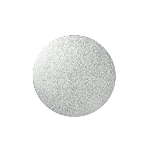 "12"" Thin Silver Round Cake Board 3mm Thick"