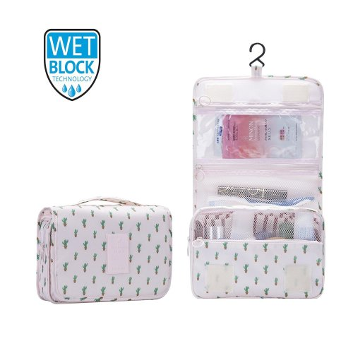 fe90444aab8b Hanging Travel Toiletry Bag Nylon Portable Makeup Comestic Organiser  Folding Travel Wash Bag with Detachable Clear Compartment Idea for Men  Women...