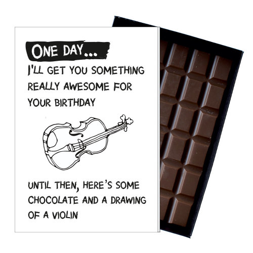Funny Birthday Gift Violin Player Musician Violinist Chocolate Greeting Card On OnBuy
