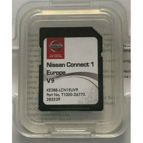 NEW! GENUINE NISSAN CONNECT 1 V9 MAPS LATEST SAT NAV SD CARD 2019/2020