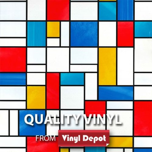 Vinyl Depot Stick Self-Adhesive Transparent Window Film Mondrian 450mm/m