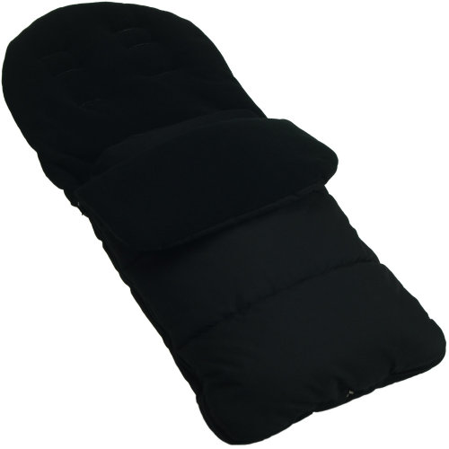 Footmuff / Cosy Toes Compatible With iCandy Strawberry Pushchair Black Jack