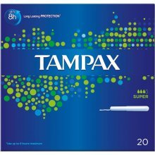 Tampax Super Applicator Tampons 20 per pack Case of 4