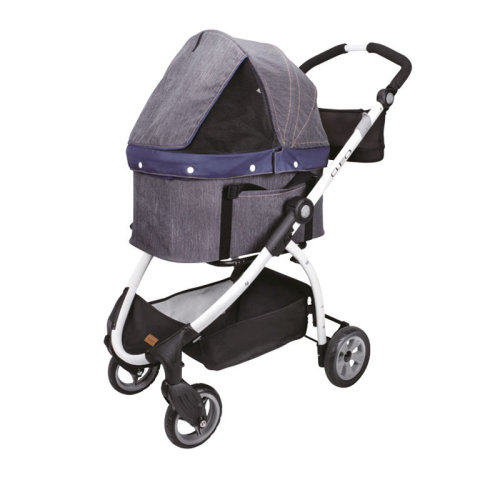 Ibiyaya Express Travel System Pet Stroller Denim