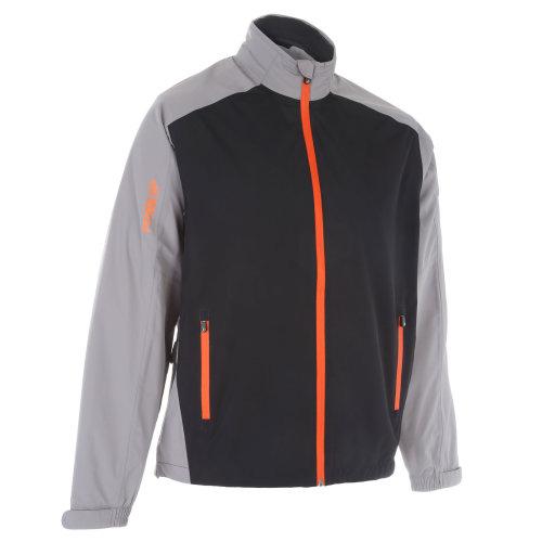 ProQuip Golf Mens Aquastorm PX1 Waterproof Rain Jacket Full Zip Grey/Black/Orange Medium