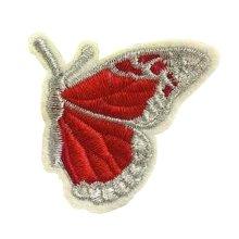 6 Pcs Exquisite Applique Patches DIY Applique Embroidered Patches, Red