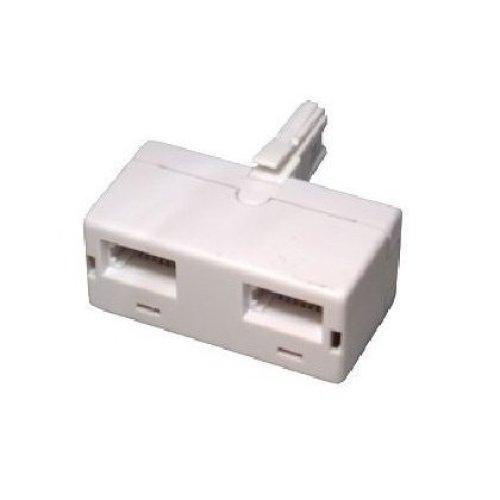 BT double telephone Phone socket 2 way Adapter Splitter