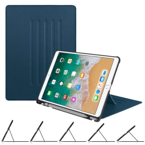 buy popular 9f9d1 c3771 Fintie iPad Pro 10.5 Inch Case with Apple Pencil Holder - [Multiple Secure  Angles] Slim Shell Magnetic Kickstand Protective Cover with Auto Sleep /...