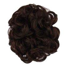 Fake Hair Bun with Elastic Hair Band, Easy to Wear [Dark Brown]