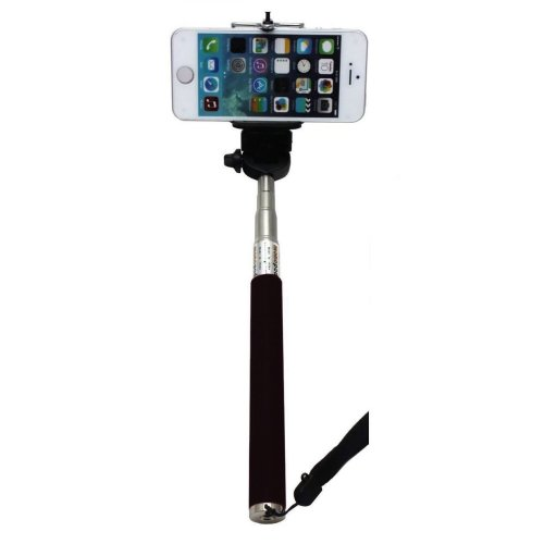 Black Selfie Stick Extendable Self-portrait Camera Photo Handheld Monopod