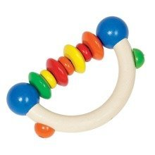 Bigjigs Ring Rattle - Semi with Beads & Discs