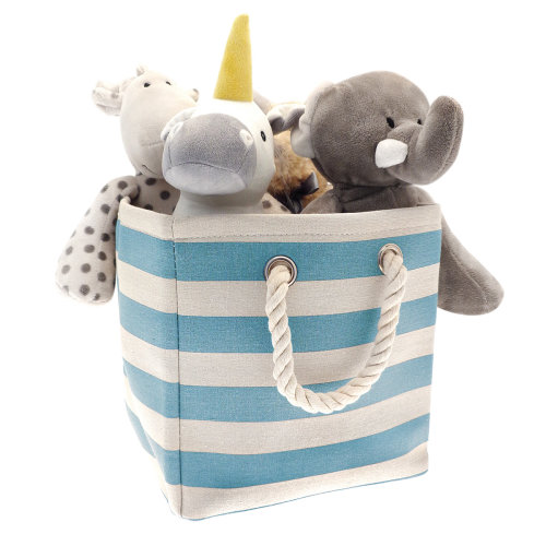 Country Club Collapsible Storage Bag, Blue Stripes