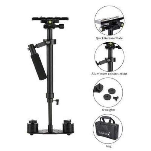 Camera Stabilizer, FOTOWELT S60 Steadycam 24'/60cm Pro Version for Nikon Canon Sony Panasonic - Weight Bearing Capability 0.5-3kg/6.61Ib