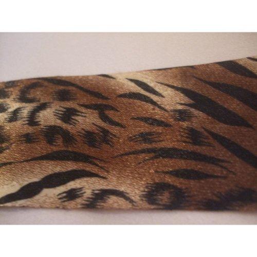 """1 Metre of May Arts Satin Animal Print Ribbon - Jaguar - 1.5"""" (38mm)"""