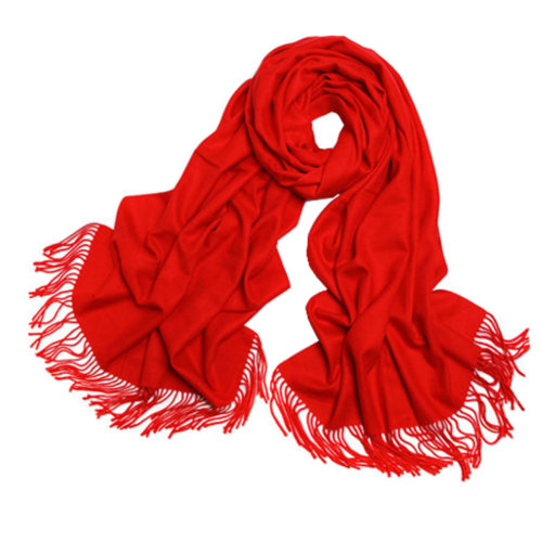 Ladies Elegant Scarf Comfortable Scarves Shawl Wrap Solid Color, Red