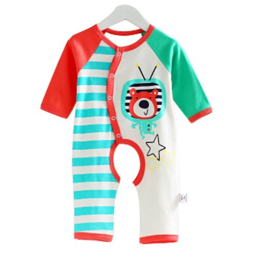 Baby Suit Clothing Long-Sleeved Cotton Baby Crawl Sports Open Fork Cotton L