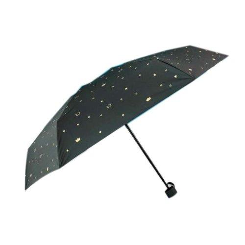 Sunscreen Sun And Rain Umbrella Anti-UV Umbrella Folding Umbrella, Black Crown