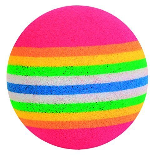 Trixie 4 Rainbow Foam Balls, 3.5 Cm, Pack Of 4 - Balls Toy Cat Kitten Play 35cm -  balls 4 toy rainbow cat pack kitten foam trixie play 35 cm