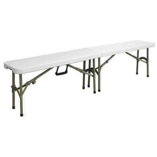 Restine Folding Bench Polyethylene Top and Steel Frame